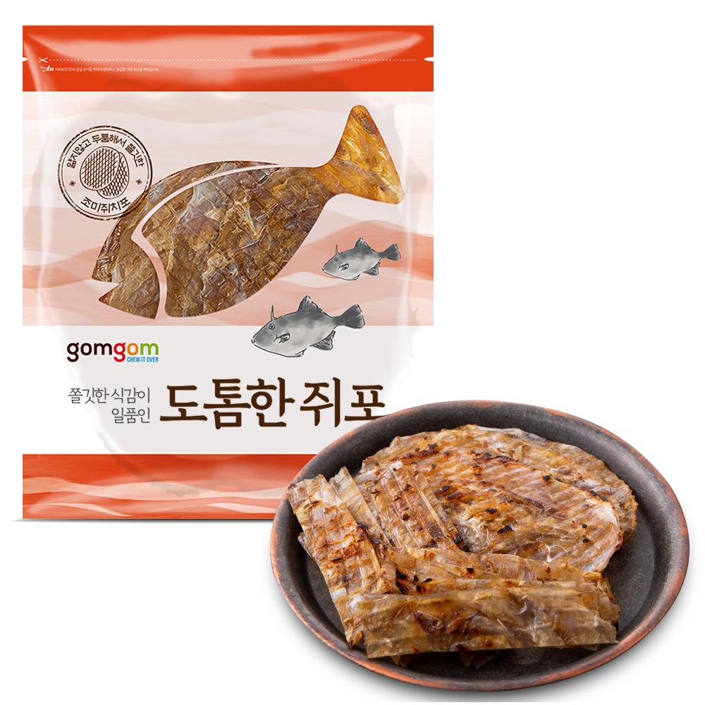 곰곰 쫄깃한 식감이 일품인 도톰한 쥐포, 350g, 1개