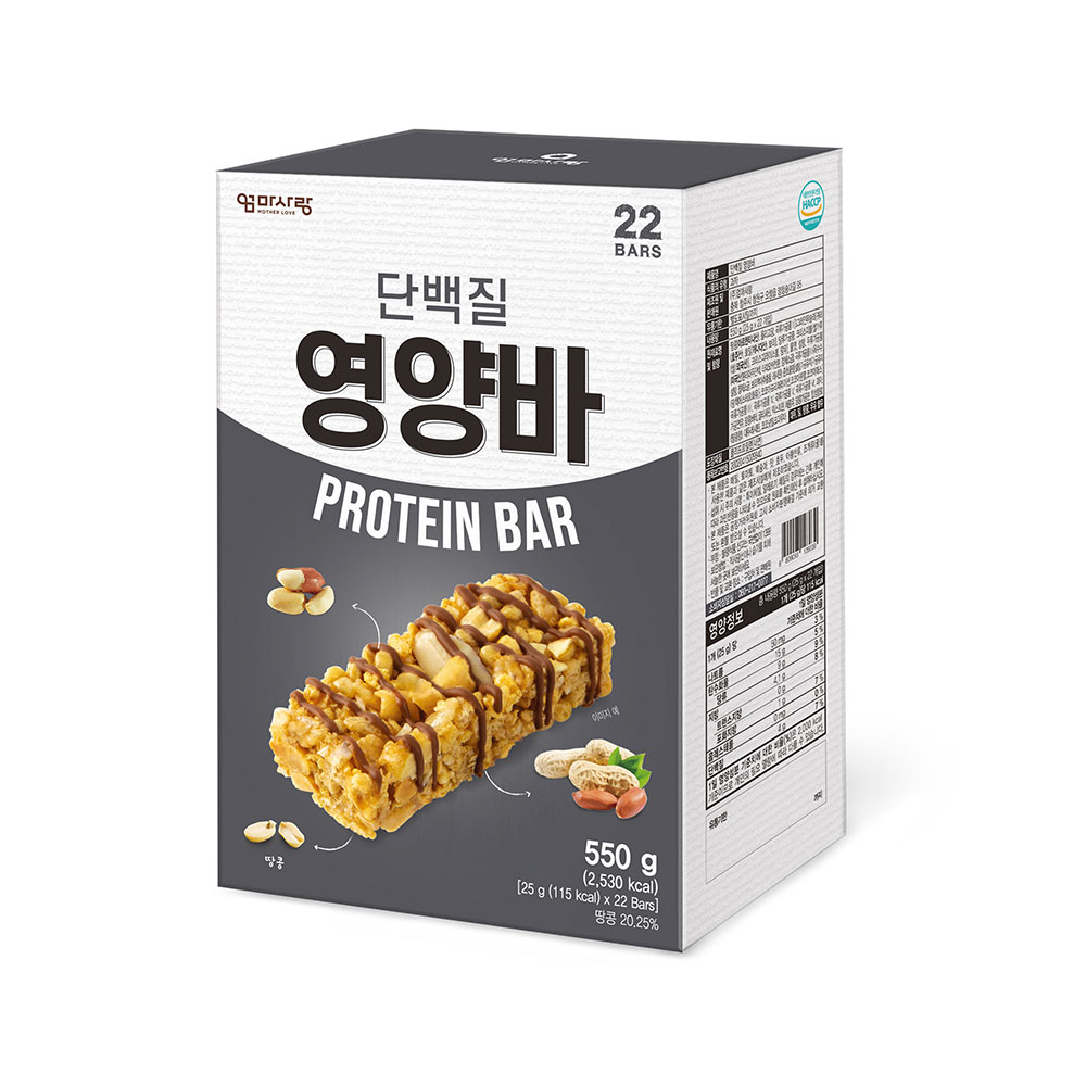 엄마사랑 단백질 영양바, 25g, 22개입