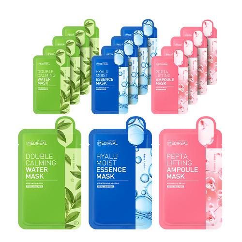 메디힐 더블 카밍 워터 마스크 5p + 히알루 모이스트 에센스 마스크 5p + 펩타 리프팅 앰플 마스크 5p, 1세트