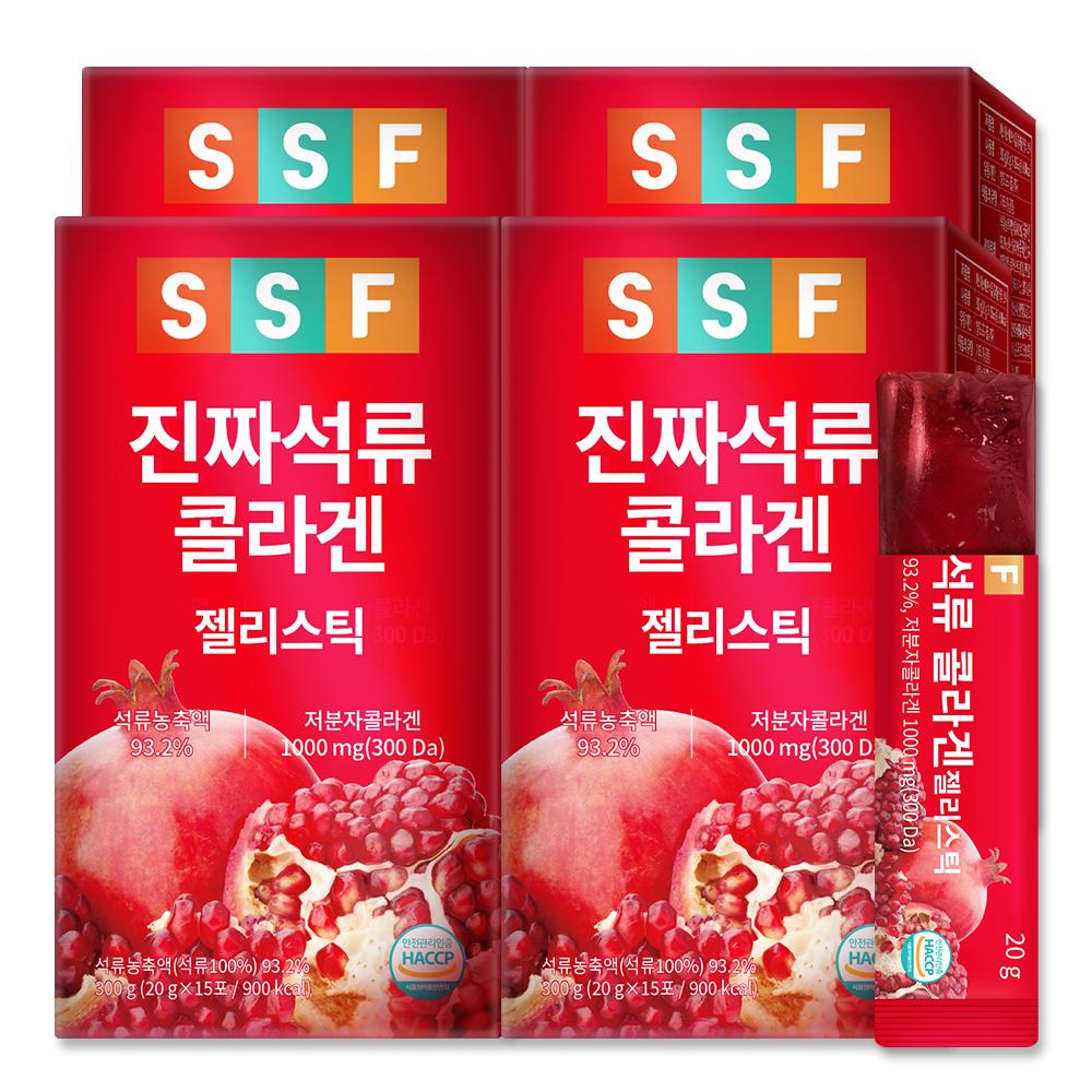 순수식품 진짜 석류 저분자 콜라겐 젤리 스틱, 20g, 60개