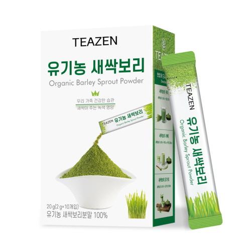 티젠 유기농 새싹보리 분말 스틱, 2g, 10개