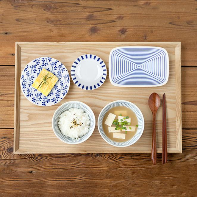 니코트 아오이 혼밥 식기세트, 랜덤 발송, 밥공기 + 국그릇 + 원형접시 + 사각접시 + 미니접시