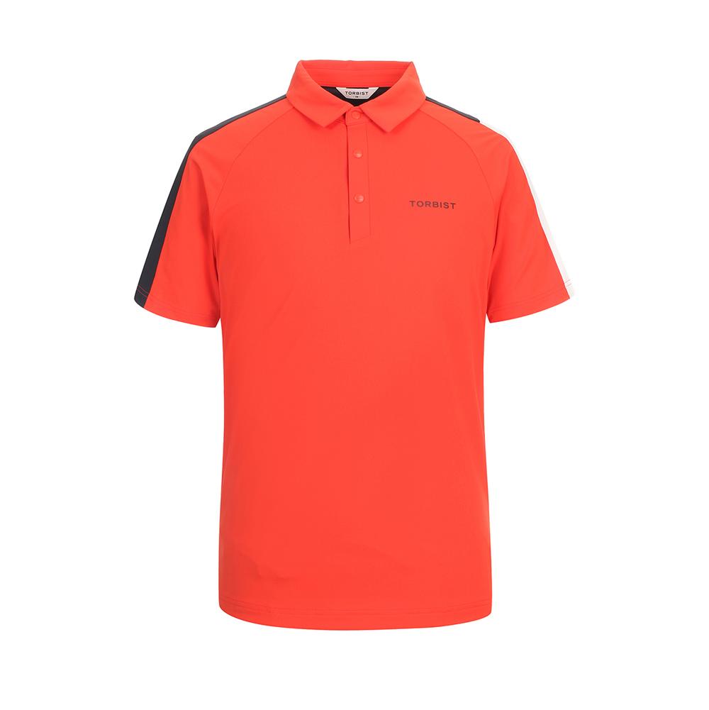 톨비스트 남성용 비대칭 배색 에리 티셔츠 GABU3-MKE510