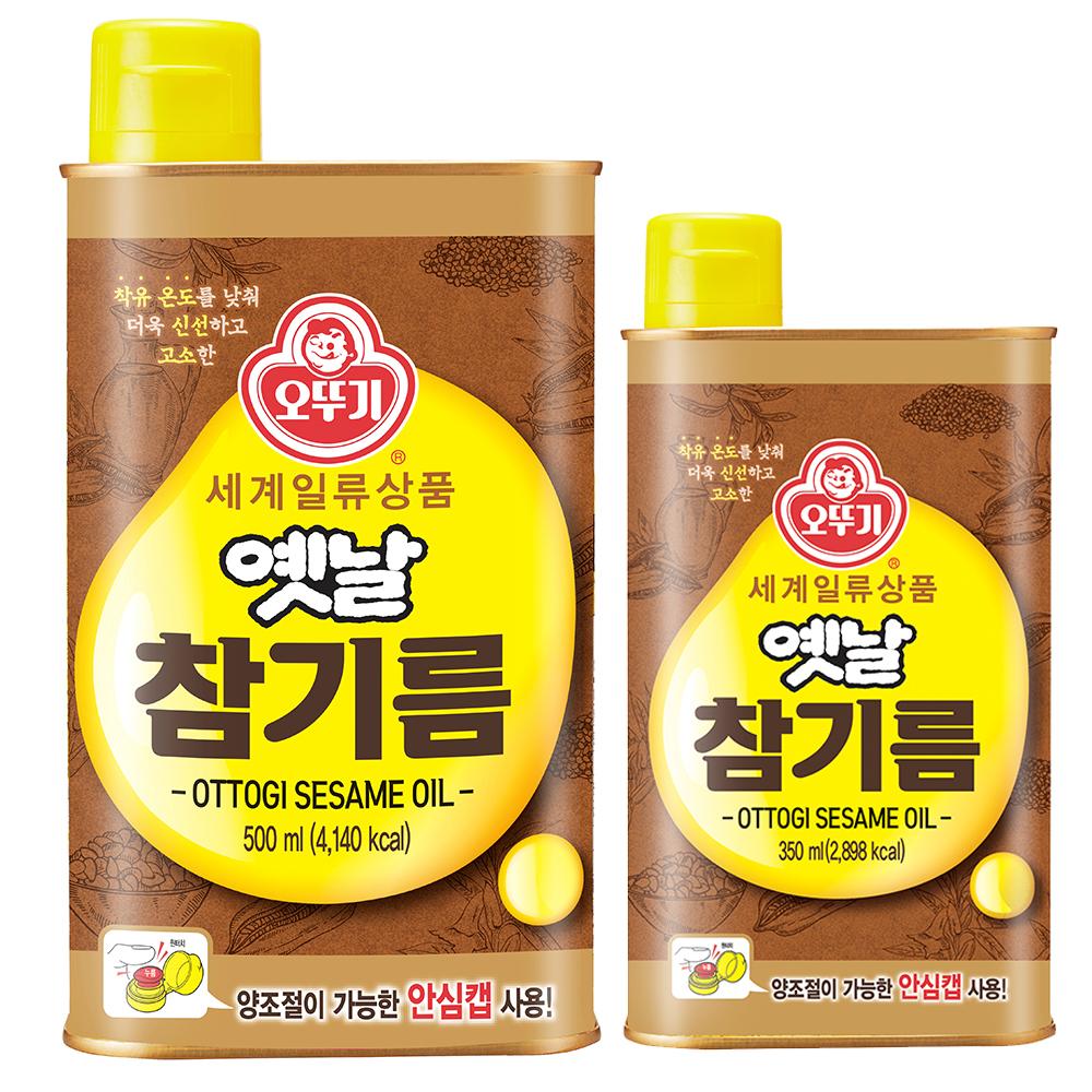 오뚜기옛날 참기름 500 ml + 350 ml, 1세트, 2종