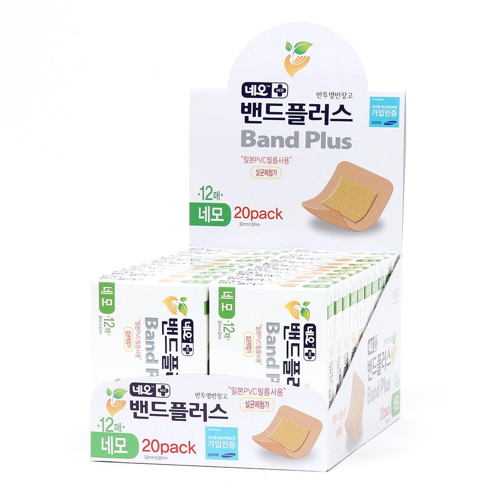 네오밴드 밴드플러스 PVC 네모 12매, 20개 (POP 129848151)