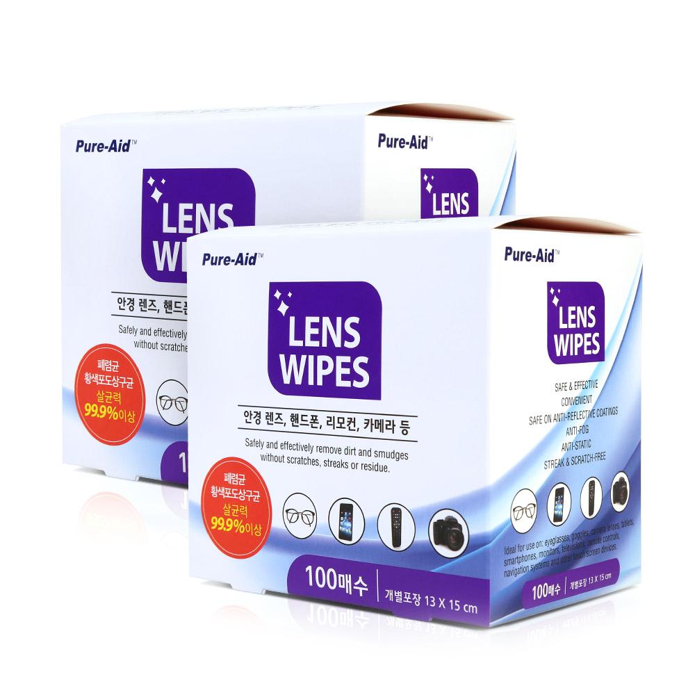 퓨어에이드 렌즈 와입스 100p, 01.렌즈티슈 200매