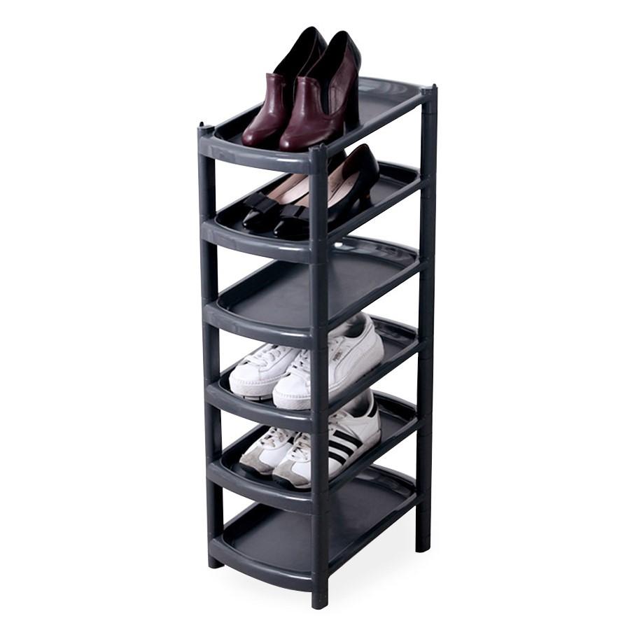 해피홈 룸트 슬림 신발 정리대 6단 블랙, 1개