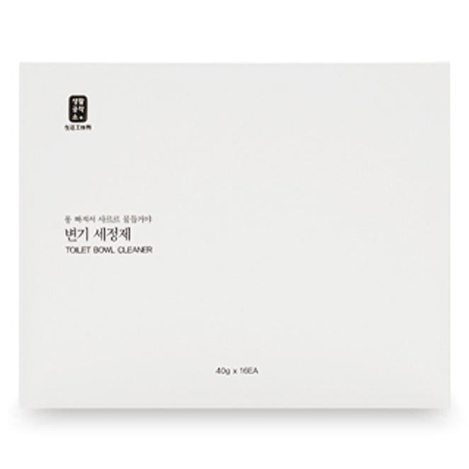 생활공작소 변기 세정제 16p, 640g, 1개