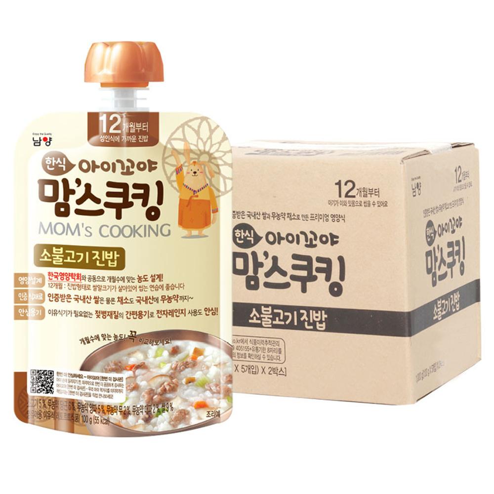 아이꼬야 맘스쿠킹 이유식 100g 12개월부터, 소불고기 진밥, 10개