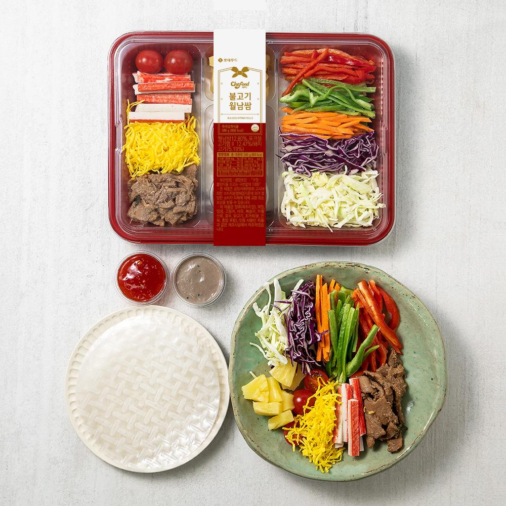 쉐푸드 불고기 월남쌈, 586g, 1개