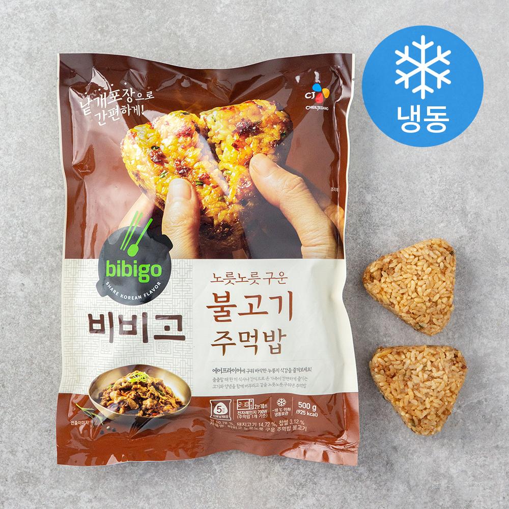 비비고 노릇노릇 구워낸 주먹밥 불고기 (냉동), 500g, 1개