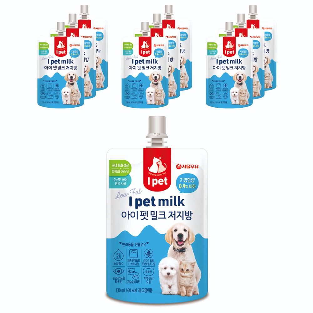 아이펫밀크 저지방 반려동물 우유, 10개
