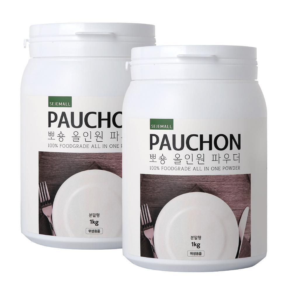 뽀숑 올인원 파우더 식기세척기 세제, 1kg, 2개