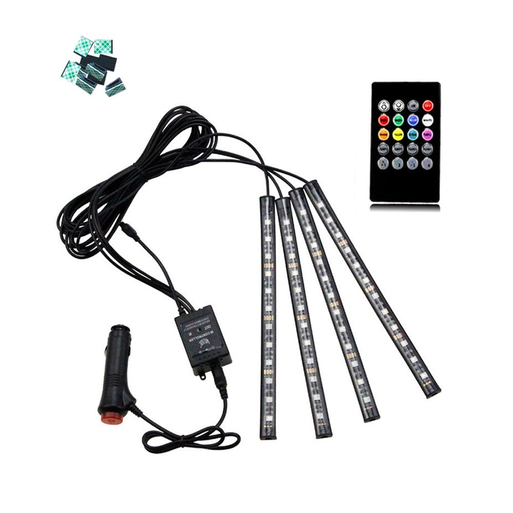켈리마 사운드 반응 자동차 LED 무드램프세트, 혼합 색상, 1세트