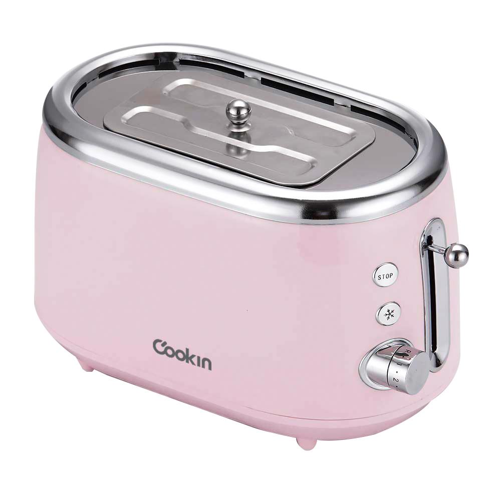 키친플라워 쿠킨 레트로 전기토스터기 핑크, KET-VS410CP