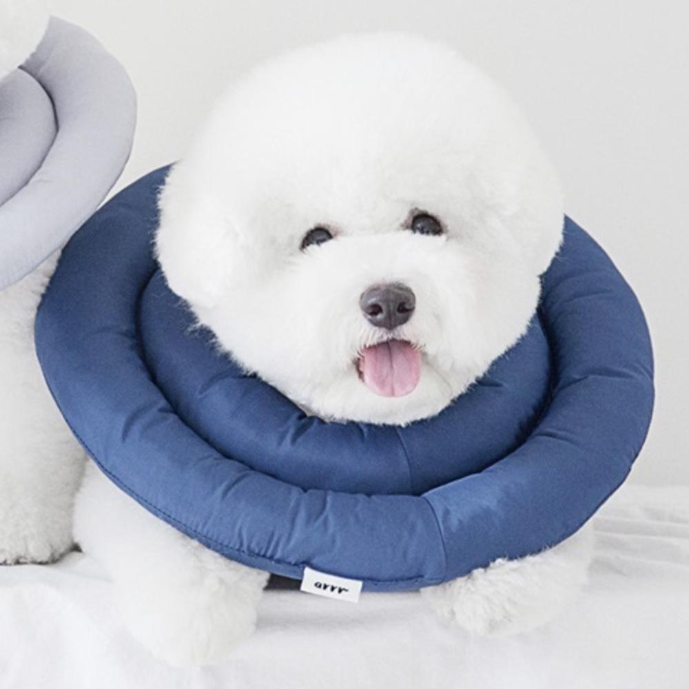 아르르 UFO 강아지 넥카라 네이비 L, 370g, 1개