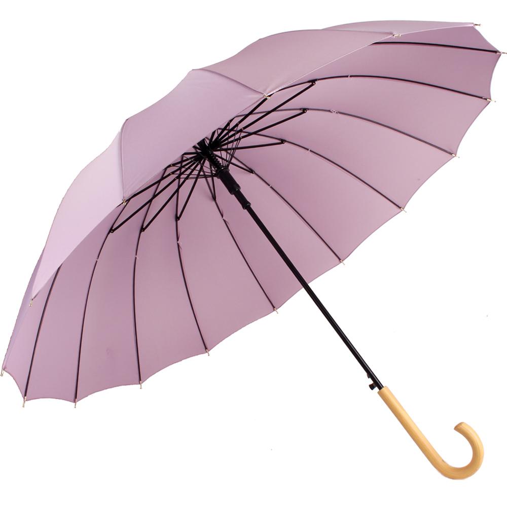 까르벵 16K 파스텔 우드그립 장우산