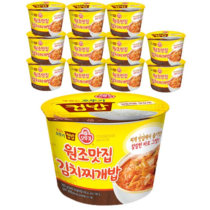 오뚜기 원조맛집 김치찌개밥, 280g, 12개입