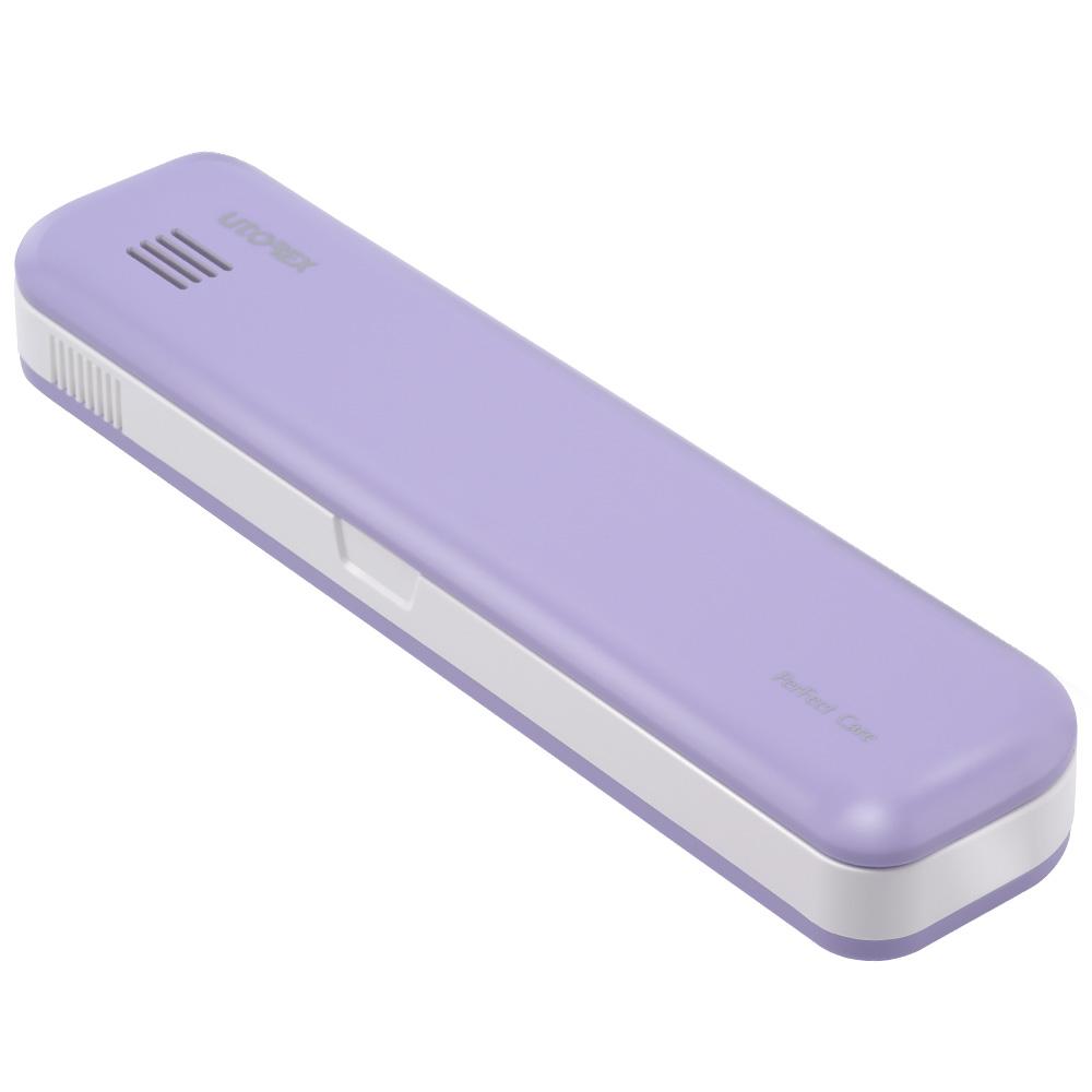 유토렉스 퍼펙트케어 충전식 휴대용 UV-C 건조 이중살균 칫솔살균기, PS2, 라벤더바이올렛-30-1197442247