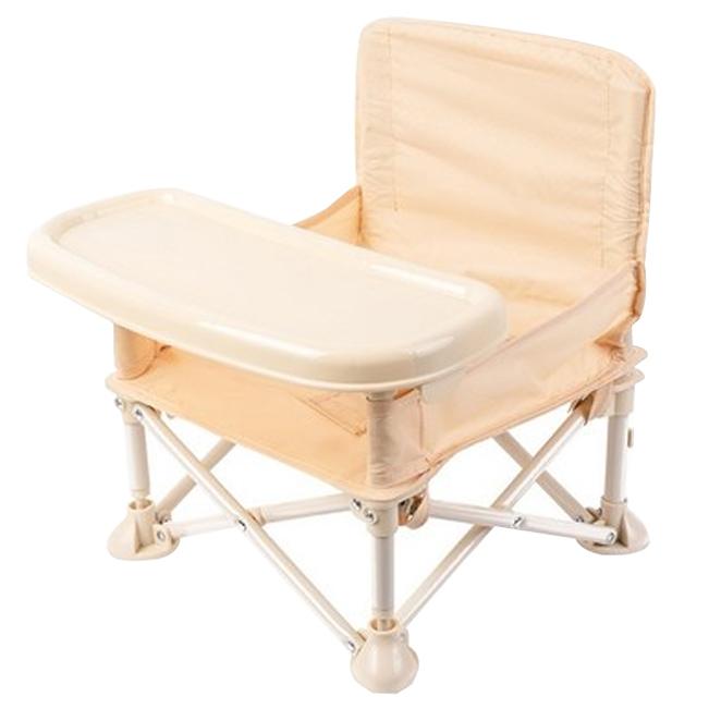 Hoo 휴대용 부스터 아기 식탁 의자, 베이지