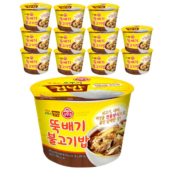 오뚜기 뚝배기 불고기밥 컵밥, 290g, 12개