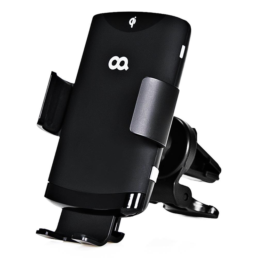 오아 와이더F2 FOD센서 차량용 핸드폰 고속 무선충전 거치대 OA-CG034, 1개, 블랙