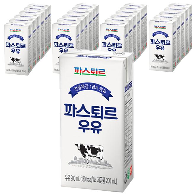 파스퇴르 멸균 우유, 200ml, 24팩