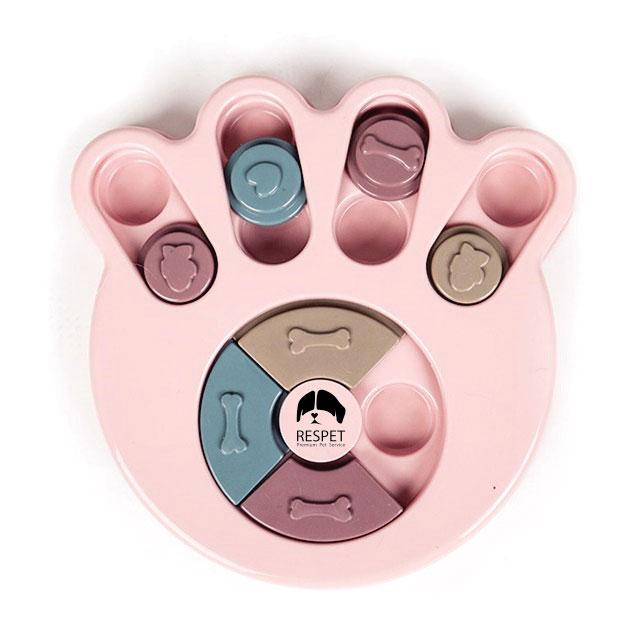 리스펫 강아지 노즈워크 지능개발 장난감 퍼즐 발바닥 23 x 23 cm, 핑크, 1개