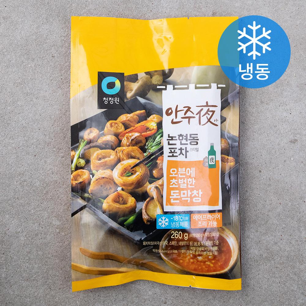 [청정원 안주] 청정원 안주야 오븐에 초벌한 돈막창 (냉동), 260g, 1팩 - 랭킹1위 (7480원)