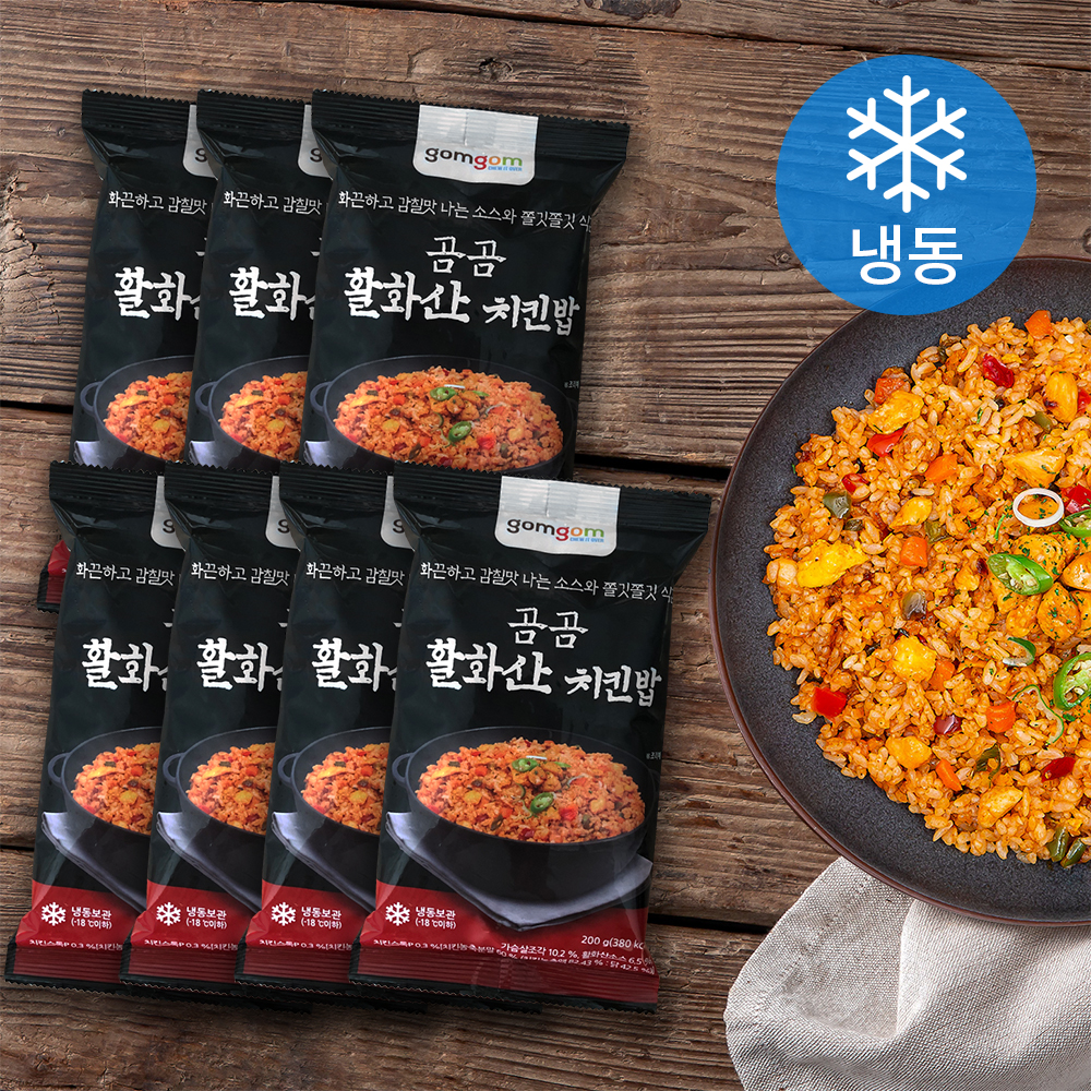 곰곰 활화산 치킨밥 (냉동), 200g, 7개입