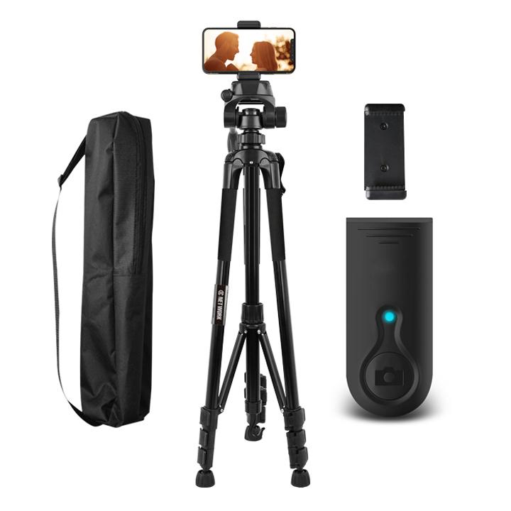 디씨네트워크 카메라 스마트폰 삼각대 + 요고 충전식 블루투스 리모컨, DC-T2(블랙)