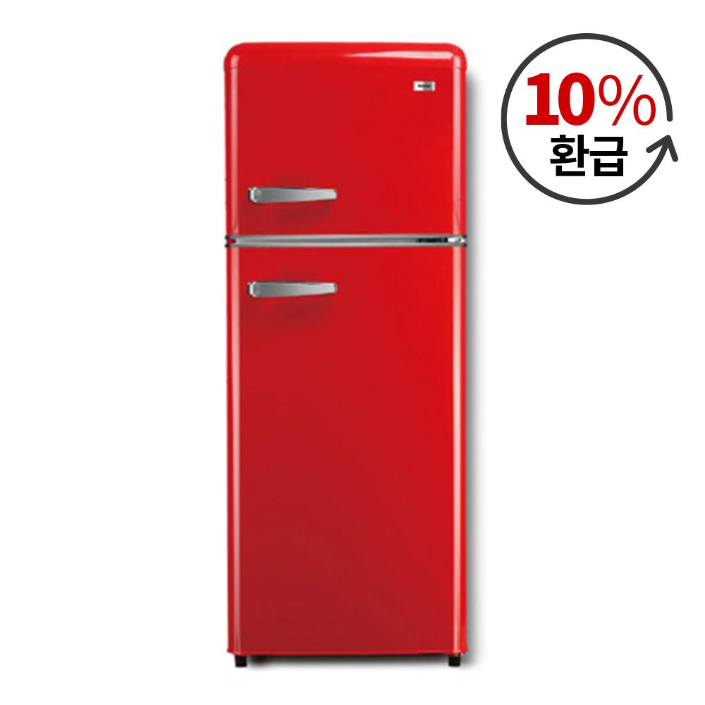 하이얼 레트로 스타일 냉장고 레드 1등급 115L 방문설치, BCD-118LHE