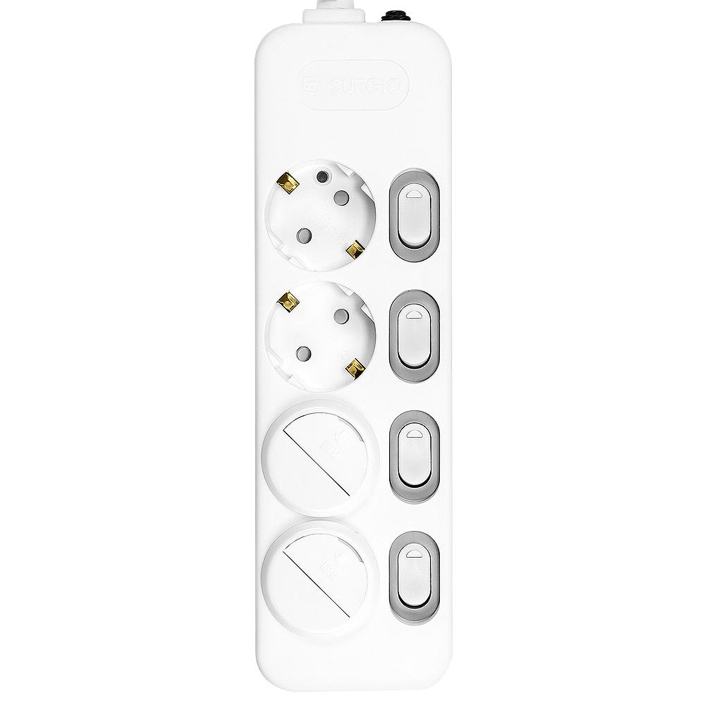 써지오 스위치 개별 멀티탭 4구 DH-2049-MT + 안전커버 2개, 5m, 1개
