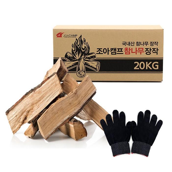 조아캠프 참나무장작 CT025, 20kg, 1세트