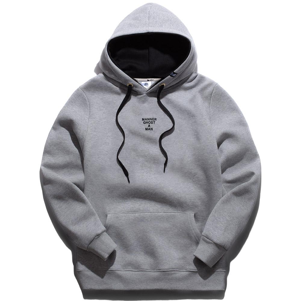 고스트리퍼블릭 남녀공용 심플 프린팅 투톤 긴팔 후드 티셔츠 GHT-430
