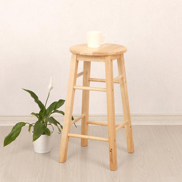 페어프랜즈 고무나무 홈바 의자 중형
