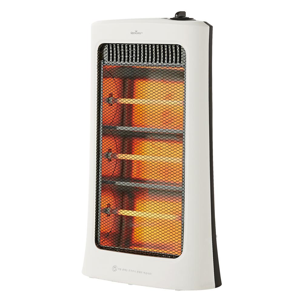 퀸센스 3단 석영관 전기 히터, QSH-QC160, 혼합 색상