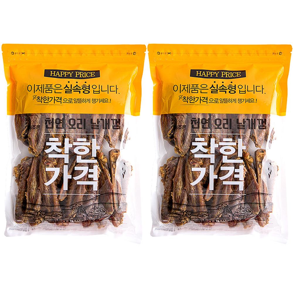 더조은 친구들 소프트 강아지 간식 300g, 오리 날개껌, 2개