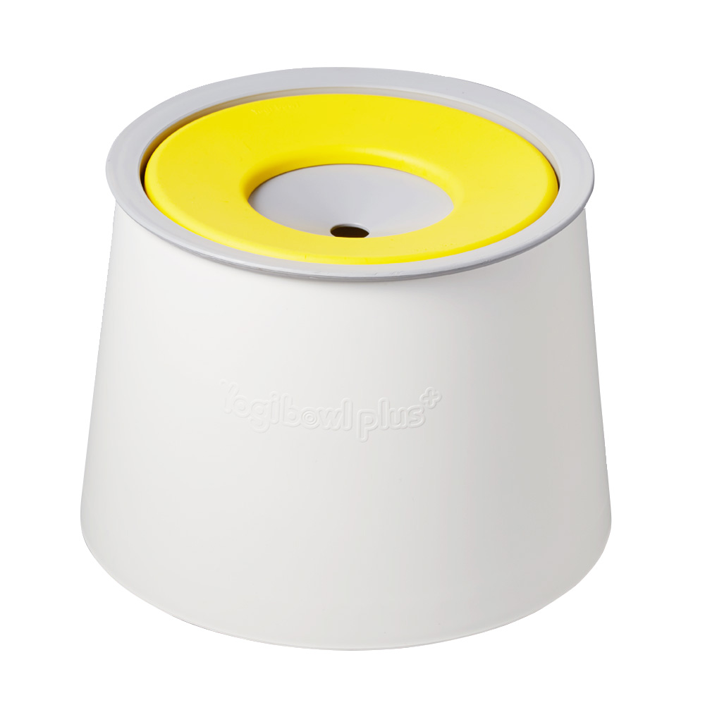 요기펫 스탠드 강아지 물그릇 215 x 158 mm 1L, Yellow, 1개
