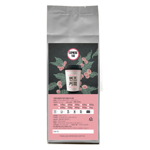 [빈프레소] 퀸즈커피 EXPRESS 100 커피, 프렌치프레소, 1000g - 랭킹8위 (28640원)