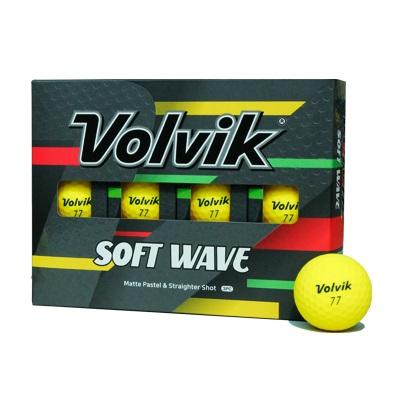 볼빅 비비드 소프트웨이브 골프공 3피스 12p, 옐로우, 1개