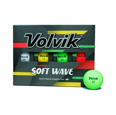 볼빅 비비드 소프트웨이브 골프공 3피스 12p, 화이트, 레드, 옐로우, 그린, 1개