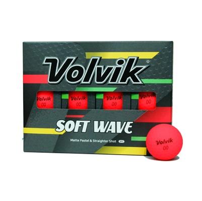 볼빅 비비드 소프트웨이브 골프공 3피스 12p, 레드, 1개