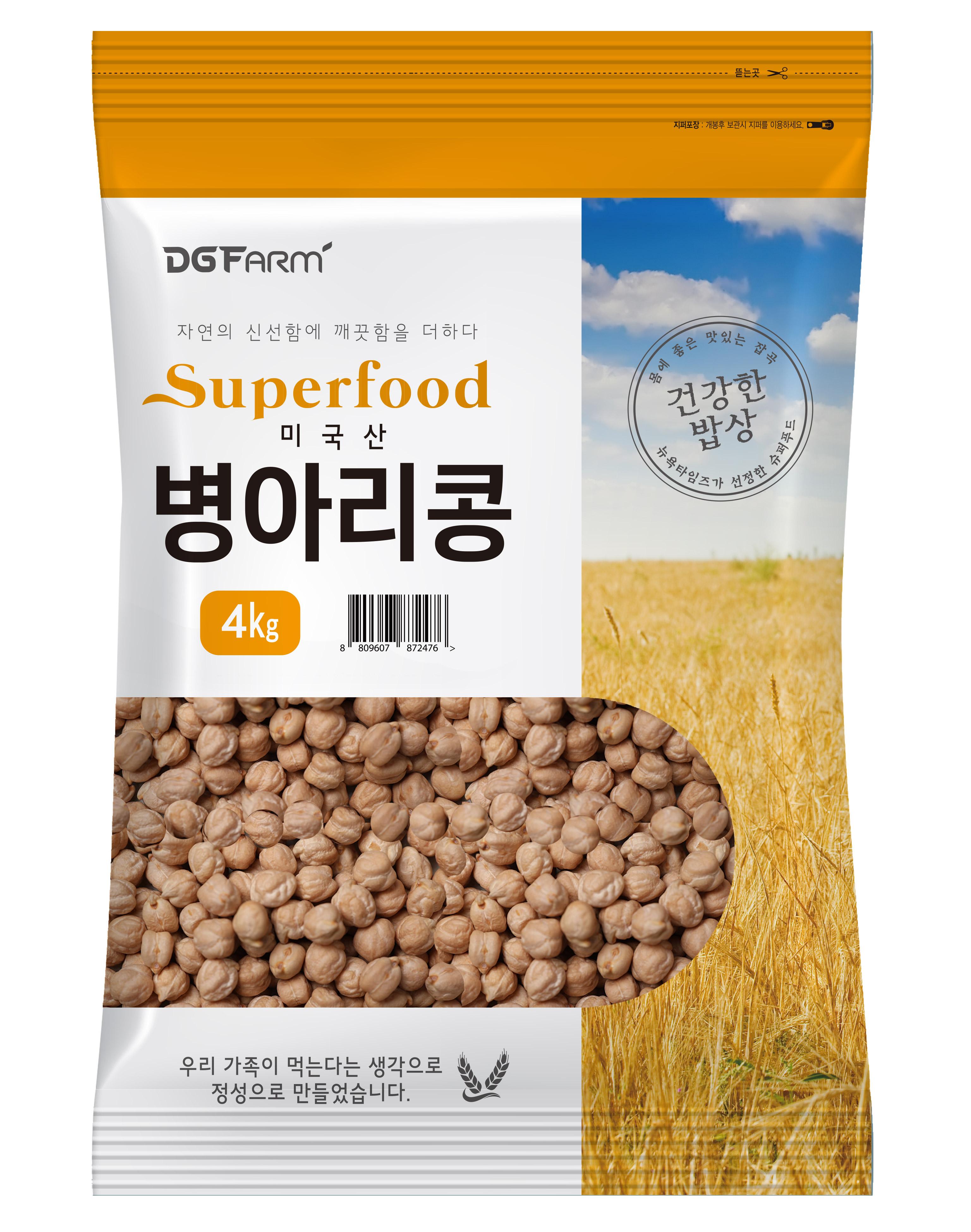 대구농산 건강한밥상 병아리콩, 4kg, 1개