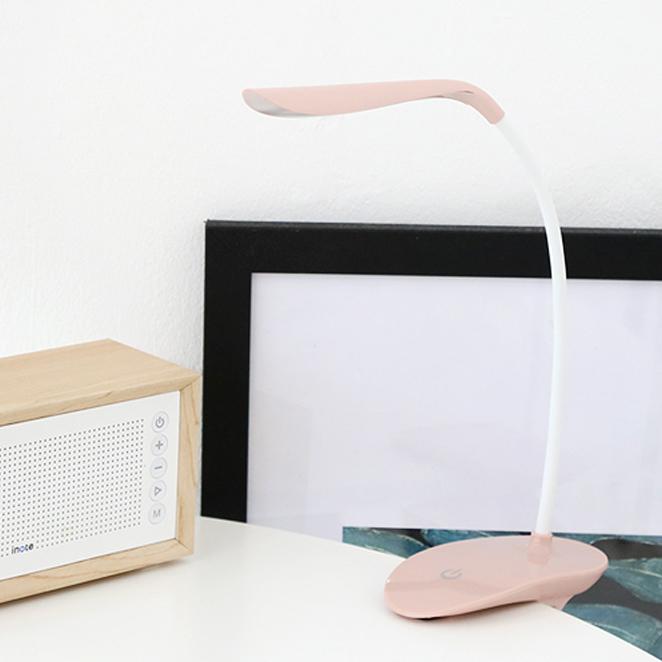 아이린 충전식 무선 집게형 LED 스탠드 IR800, 핑크 IR800P