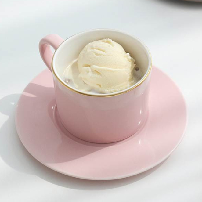 쓰임 소울 커피잔 1인조 세트, 핑크, 1세트