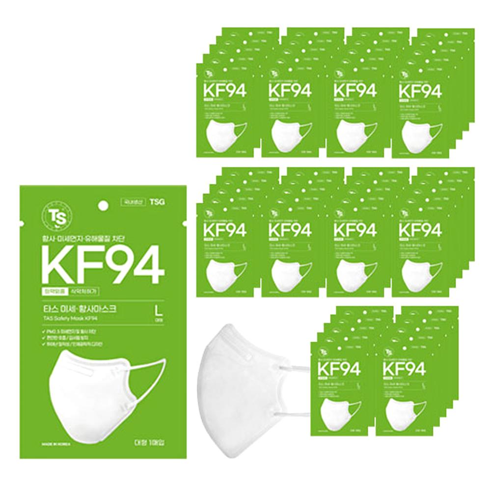 TS 타스 미세 황사 2D 마스크 성인용 KF94, 50매입, 1개