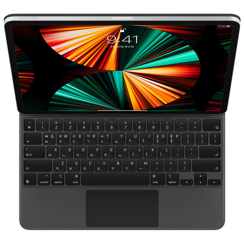 Apple 정품 매직 키보드 iPad Pro 12.9 5세대, 블랙, 한국어 (POP 5393338258)