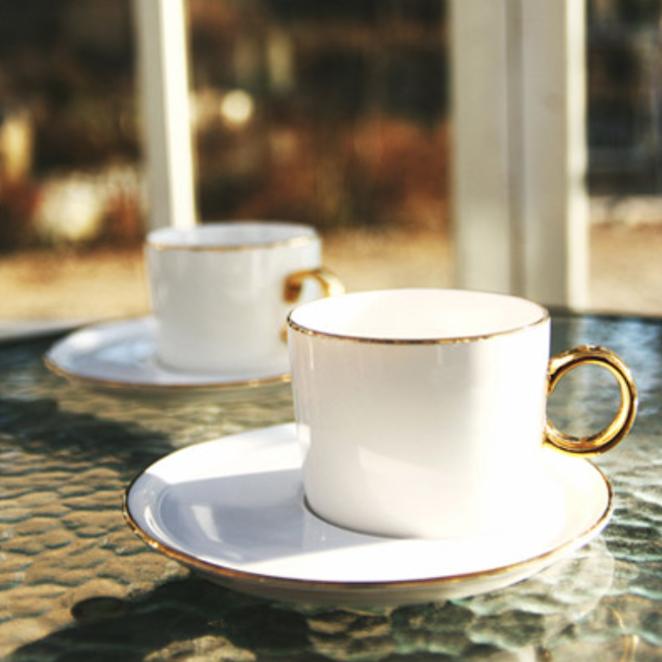 벨루즈까사 골드림 엣지 커피잔 2인조 세트, 혼합 색상, 1세트