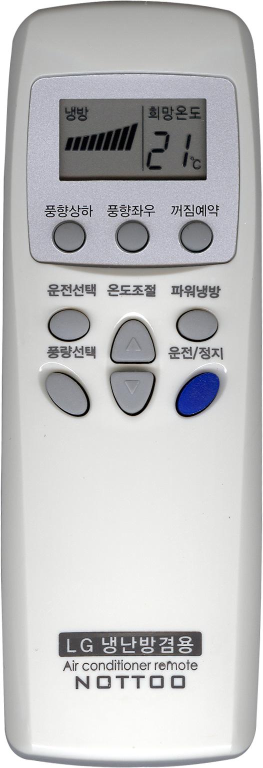 NOTTOO LG에어컨 전용 리모컨 20015H, 1개